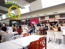 Food court at a shopping mall. ANTIPOLO CITY, PHILIPPINES - NOVEMBER 19, 2015: Food court at a shopping mall in Antipolo City, Philippines Stock Photos