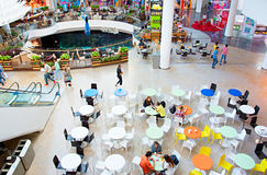 Food court at shopping mall Stock Image