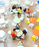 Food court at shopping mall Royalty Free Stock Photo