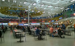 Food court in the shopping mall Stock Image