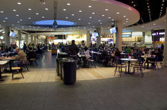 Food court in shopping mall Stock Image