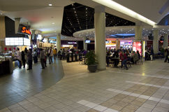 Food court in shopping mall Stock Images