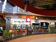 Food court at a shopping mall in Noida Delhi Stock Images