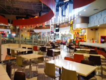 Food court at a shopping mall in Noida Delhi Stock Photography
