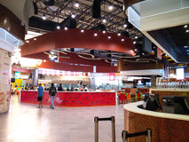 Food court at a shopping mall in Noida Delhi Royalty Free Stock Images