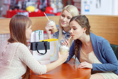 Food court in the shopping mall Stock Photography