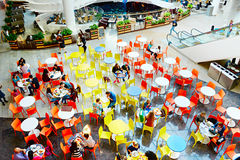 Food court at shopping plaza Stock Photography