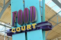 Food Court Sign Stock Images