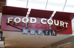 Food court sign. Food court and north direction sign Royalty Free Stock Images