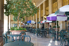 Food Court at Train Station. A food court in an old train station stock photography