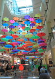 Food court Umbrella Melbourne Stock Image