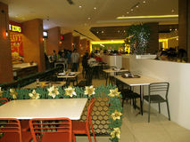 Food Court, Venice Grand Canal Mall, McKinley Hill, Taguig, Metro Manila, Philippines Stock Image
