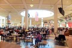 Food Court at The Wolfchase Mall, Memphis, Tennessee. Stock Image
