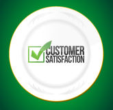 Food customer satisfaction guaranty Royalty Free Stock Image