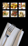 Food and cutlery Royalty Free Stock Photography