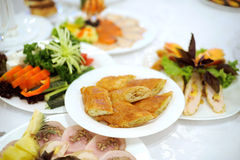 Food on Festive Table Royalty Free Stock Images