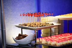 Food decoration for all functions. Food Decoration for Buffet and function which is use it all function Stock Photos