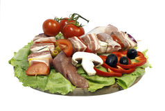 Food decoration plate Royalty Free Stock Photo