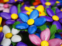 Food and decoration. Sugared almonds. royalty free stock photography