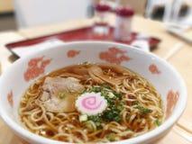 Food, Delicious Ramen Japanese noodle soup dish Stock Images