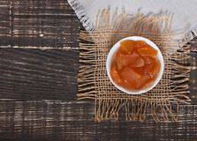 Food - delicious sweet apple jam. Royalty Free Stock Photo