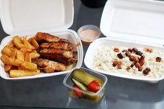 Food delivered Stock Image