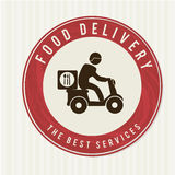 Food delivery stock illustration