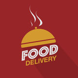 Food delivery cloche Royalty Free Stock Images