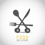Food Delivery Design. Abstract Background Royalty Free Stock Image