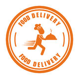 Food delivery design Stock Photography