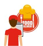 Food delivery design. Vector illustration eps10 graphic Stock Images