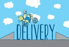 Food delivery is a hazardous job Stock Images