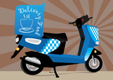 Food Delivery Motorbike_eps Stock Photo