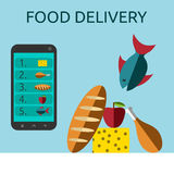Food delivery Stock Photography