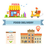 Food delivery Royalty Free Stock Photography