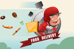 Food Delivery Service royalty free illustration