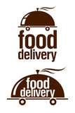 Food delivery signs. stock illustration