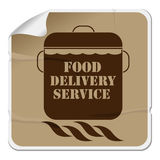 Food delivery sticker Stock Photo