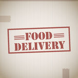 Food delivery. Text abstract background Royalty Free Stock Image