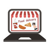 Food delivery vector Stock Images