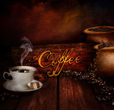 Food design - Coffee warehouse Stock Image
