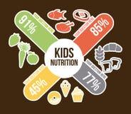 Food design. Over brown background vector illustration Stock Images