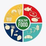 Food design. Over white background vector illustration Stock Image