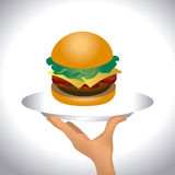 Food design over white background vector illustration Stock Photography