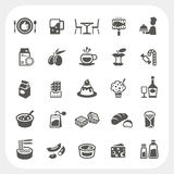 Food and Dessert icons set Royalty Free Stock Image
