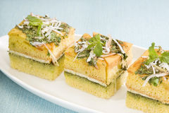 Food Dhokla with Chees Royalty Free Stock Photo