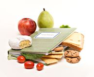 Food Diary. A food diary, journal; health diet concept Royalty Free Stock Photos