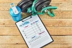 food diary sheet stock photo image of mockup nutrition 130518438