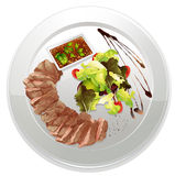 A food and a dish Royalty Free Stock Photos