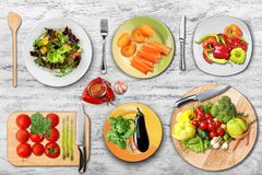 Food dishes Royalty Free Stock Image